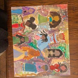Hand painting - black girl magic